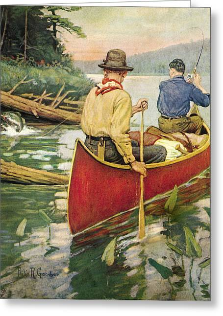 Voyageurs Paintings Greeting Cards - Early Morning Thrill Greeting Card by JQ Licensing