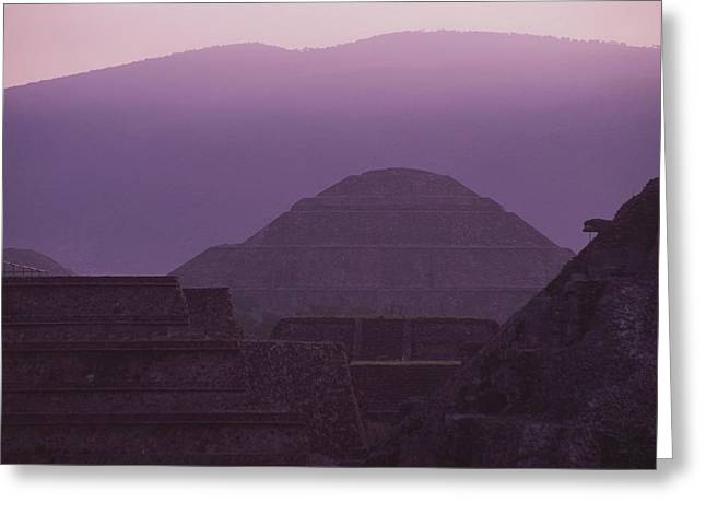 Pre Columbian Architecture And Art Greeting Cards - Early Morning View From Quetzalcoatl Greeting Card by Kenneth Garrett