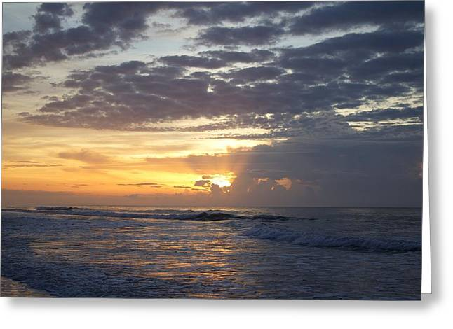Ocean Art Photos Greeting Cards - Early Morning Walk in the Surf Greeting Card by Brian Hamilton