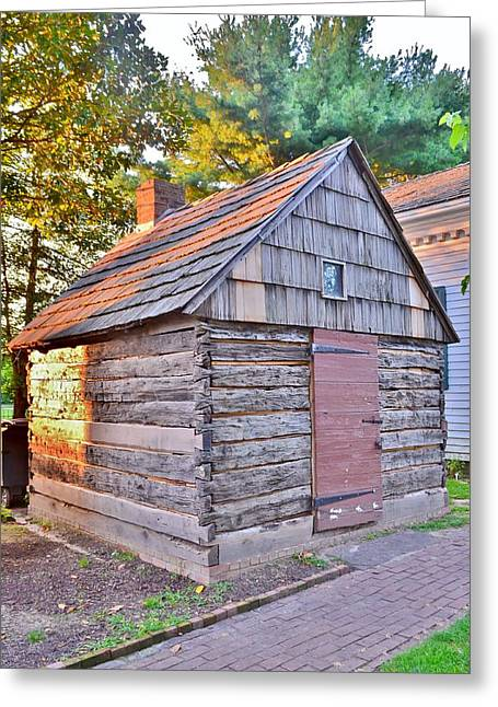Log Cabins Greeting Cards - Early Plank House from 1690 - Lewes Delaware Greeting Card by Kim Bemis