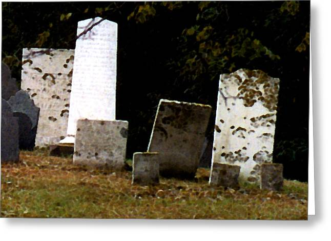 Grave Yard Greeting Cards - Early Settlers Greeting Card by Paul Sachtleben