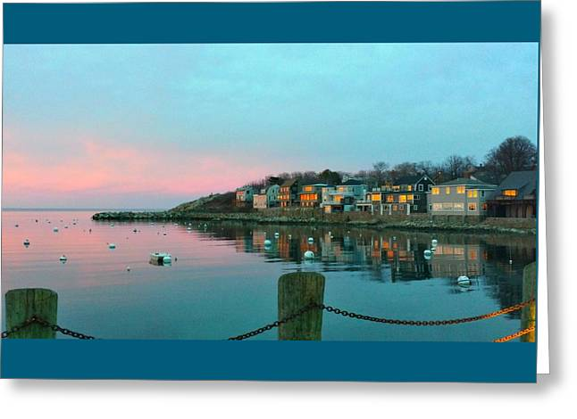 Reflection In Water Greeting Cards - Early Spring Sunset Greeting Card by Harriet Harding