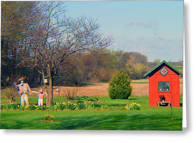 Lawn Chair Greeting Cards - Early Springtime 2015 Greeting Card by Tina M Wenger