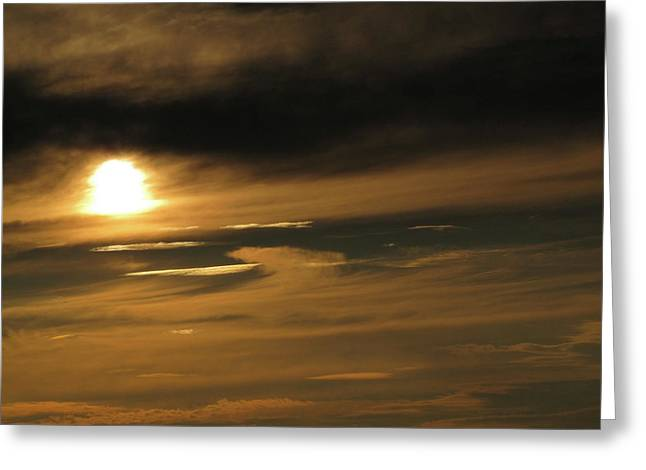 Cushing Greeting Cards - Early Sunset Greeting Card by Kelly Mezzapelle