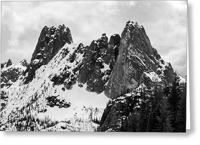 Concord Greeting Cards - Early Winter Spires and Liberty Bell Greeting Card by Michael Russell