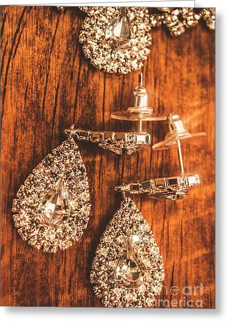 Earmark Event Jewellery Greeting Card by Jorgo Photography - Wall Art Gallery