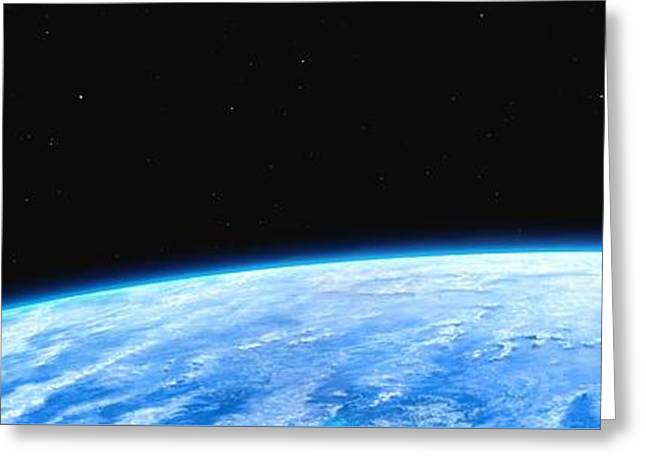Earth And Moon Greeting Card by Science Photo Library