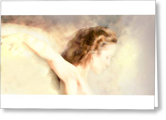 Mystic Sky Art Greeting Cards - Earth Angel... Greeting Card by Lee Haxton