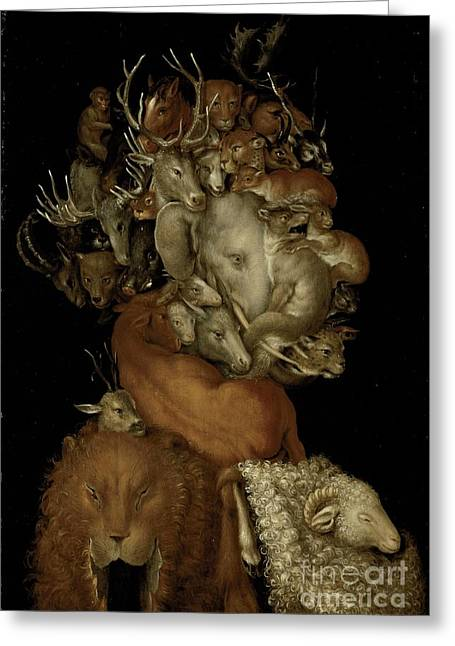 Visage Greeting Cards - Earth Greeting Card by Giuseppe Arcimboldo