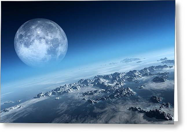 Science Greeting Cards - Earth icy ocean aerial view Greeting Card by Johan Swanepoel
