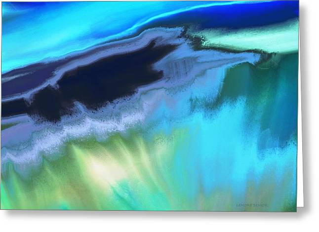 Abstract Nature Greeting Cards - Earth Greeting Card by Lenore Senior