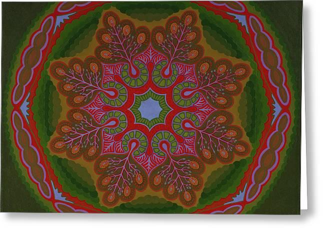Mystic Art Greeting Cards - Earth Mandala  Greeting Card by Allen Schill