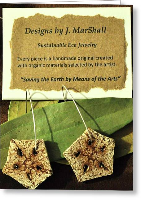 ist Jewelry Greeting Cards - Earth Star Greeting Card by Myeco Visions