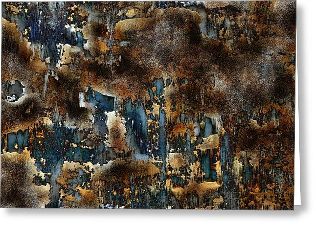 Earth Tone Abstract Greeting Card by Frank Tschakert