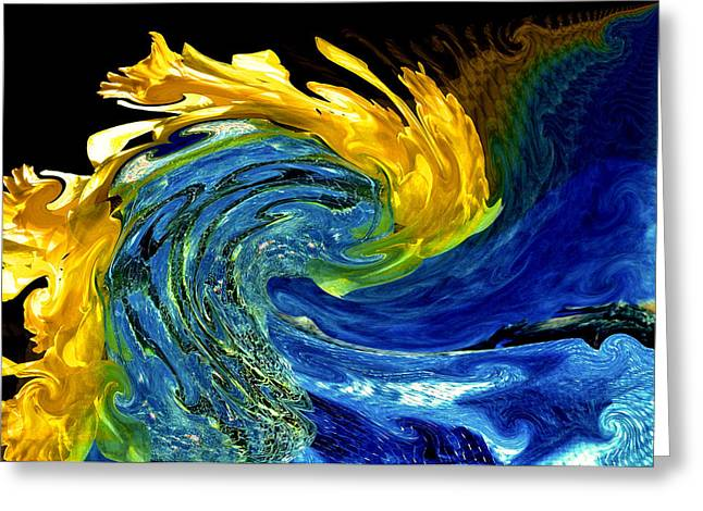 Earth Wind and Fire Greeting Card by Karen M Scovill
