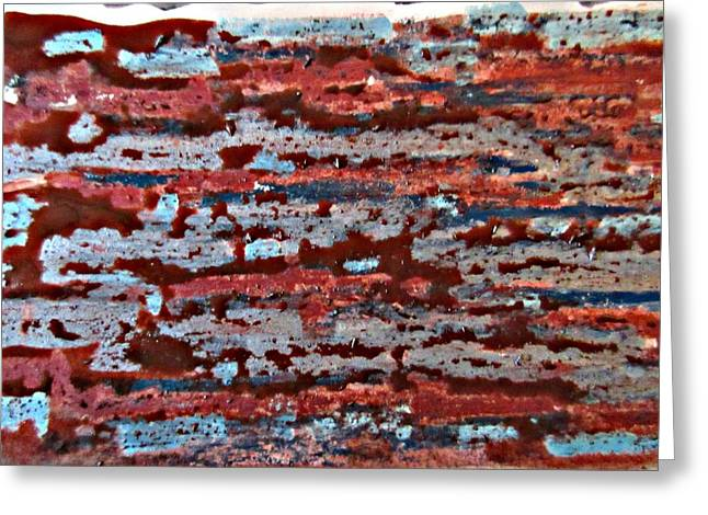 Earthen Blurr Abstract Greeting Card by John Malone