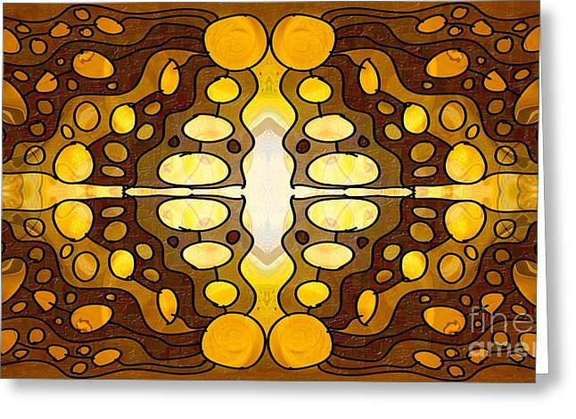 Earthly Awareness Abstract Organic Artwork By Omaste Witkowski Greeting Card by Omaste Witkowski