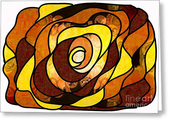 Organic Drawings Greeting Cards - Earthly Dimensions Abstract Organic Art by Omaste Witkowski Greeting Card by Omaste Witkowski