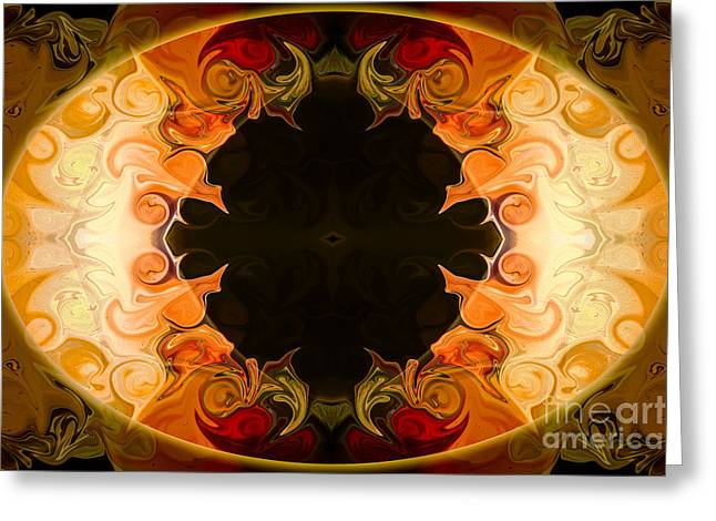 Earthly Undecided Bliss Abstract Organic Art By Omaste Witkowski Greeting Card by Omaste Witkowski