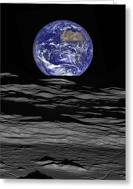 Earthrise Greeting Card by Mark Kiver