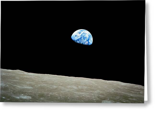 Nasa Greeting Cards - Earthrise Greeting Card by Space Art Pictures