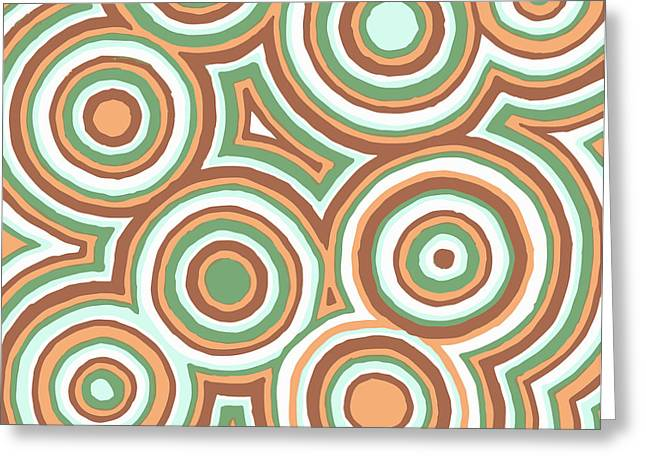Earth Tones Drawings Greeting Cards - Earthy Drops Greeting Card by Jill Lenzmeier