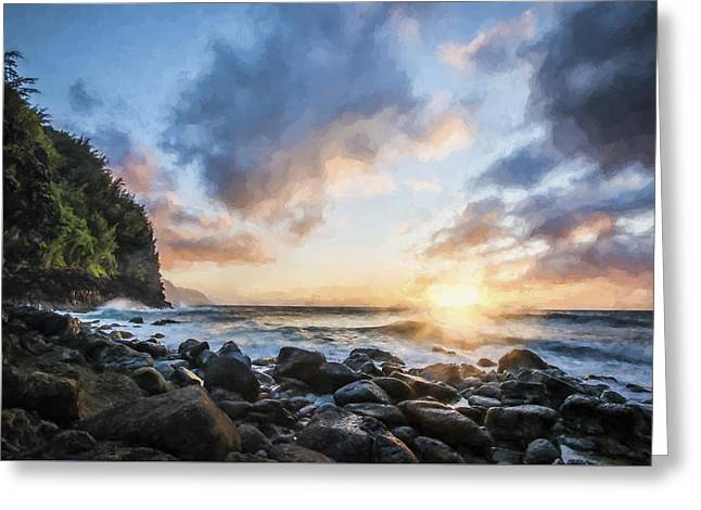 Ease In My Eyes II Greeting Card by Jon Glaser
