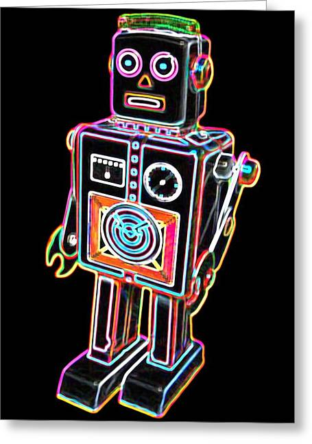 Easel Back Robot Greeting Card by DB Artist