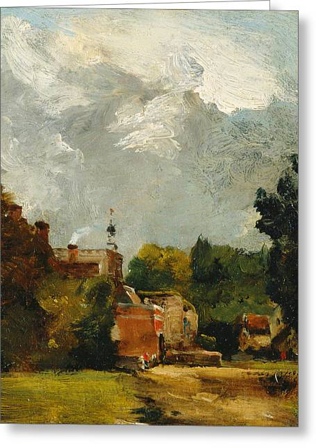 East Bergholt Church Greeting Card by John Constable