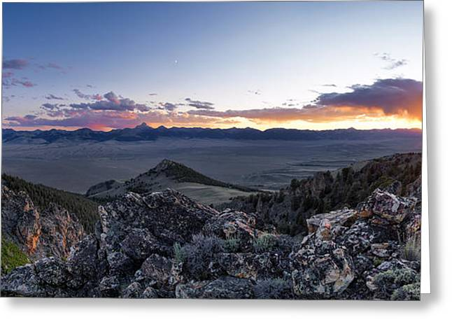 East Central Idaho Sunset Greeting Card by Leland D Howard