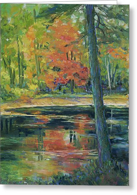 Fall Colors Pastels Greeting Cards - East Coast Autumn Greeting Card by Billie Colson