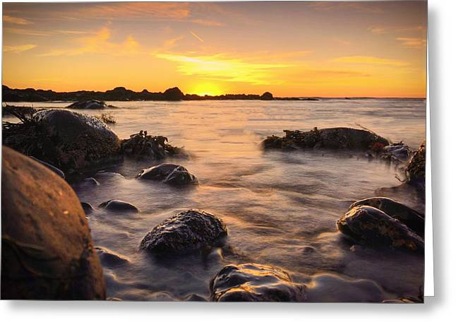 East Coast Sunset 3 Greeting Card by Christine Sharp