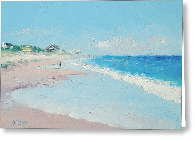 East Hampton Paintings Greeting Cards - East Hampton Beach Greeting Card by Jan Matson