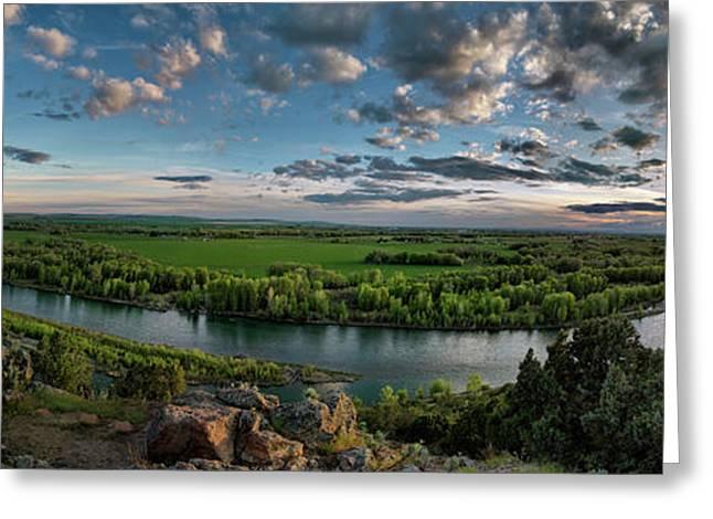 East Idaho View Greeting Card by Leland D Howard
