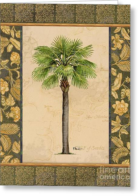 Palmetto Trees Greeting Cards - East Indies Palm I Greeting Card by Paul Brent
