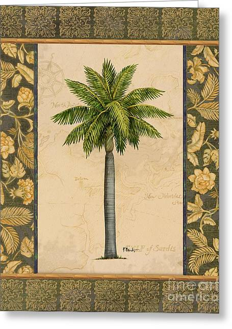 Palmetto Trees Greeting Cards - East Indies Palm II Greeting Card by Paul Brent