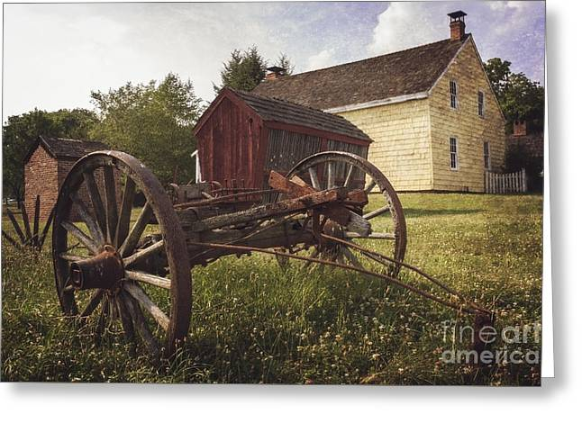 18th Century Greeting Cards - East Jersey Olde Town Greeting Card by Debra Fedchin