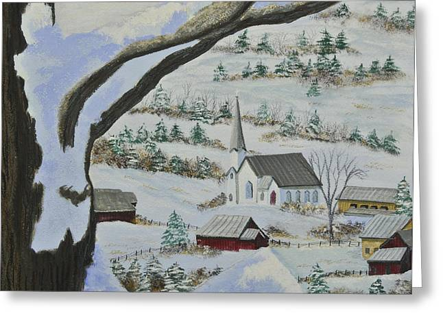 East Orange Vermont Greeting Card by Charlotte Blanchard