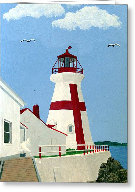 East Quoddy Head Lighthouse Greeting Card by Frederic Kohli