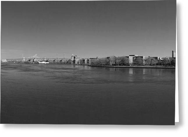 East River Drive Greeting Cards - East River Panorama 2 Greeting Card by Robert Ullmann