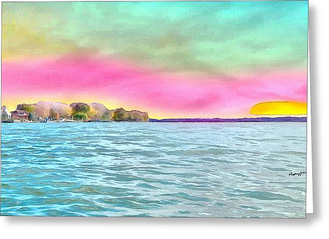 Eco-tourism Greeting Cards - East Sandusky Bay Water Trail Greeting Card by Anthony Caruso