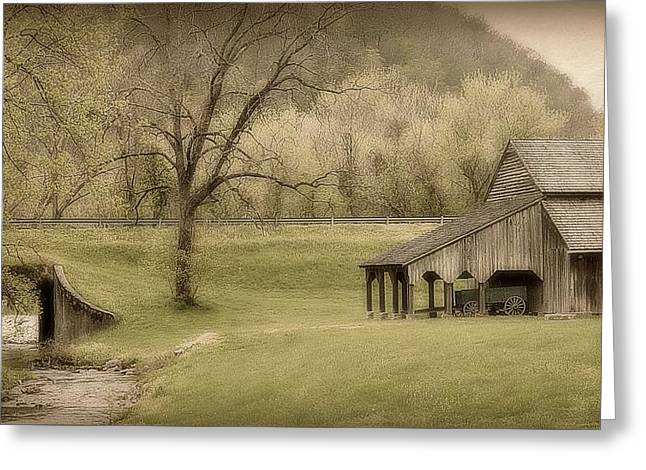 Tennessee Barn Greeting Cards - East Tennessee Countryside Greeting Card by Toni Abdnour