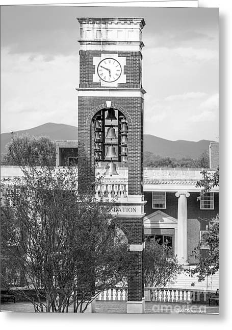 East Tennessee State University Bell Tower Greeting Card by University Icons