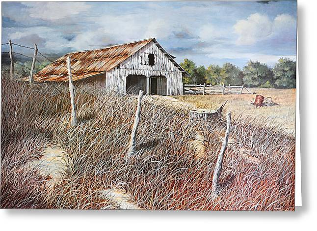 Bob Hallmark Greeting Cards - East Texas Barn Greeting Card by Bob Hallmark