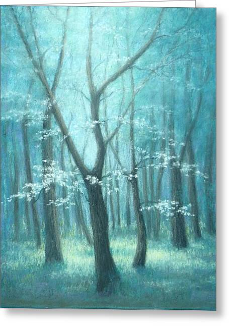 Neely Greeting Cards - East Texas Dogwood Tree Greeting Card by Pat Neely