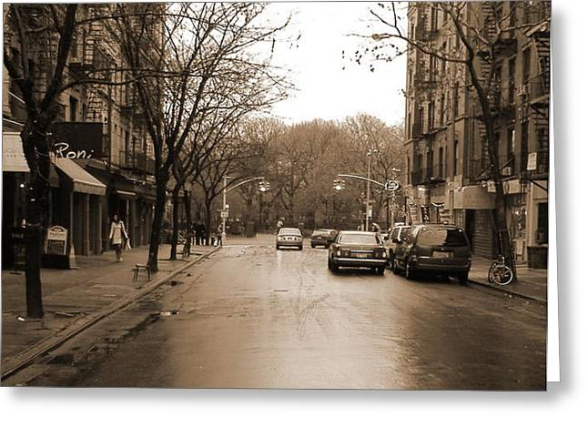 east village in winter Greeting Card by Utopia Concepts