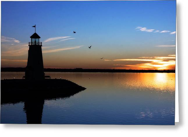 East Warf Sunset Greeting Card by Lana Trussell