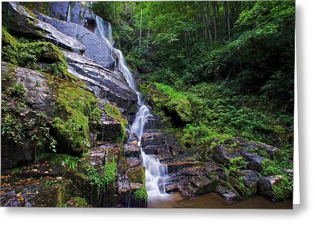 Blue Ridge Parkway In Fall Greeting Cards - Eastatoe Falls - Waterfalls in North Carolina Photos Greeting Card by Matt Plyler