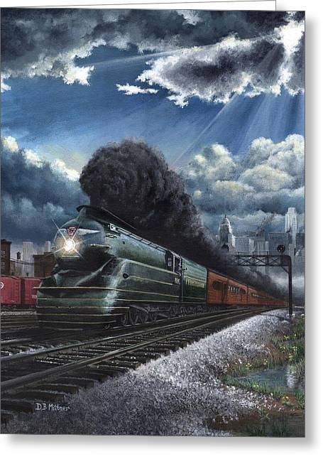 Eastbound Broadway Limited Greeting Card by David Mittner