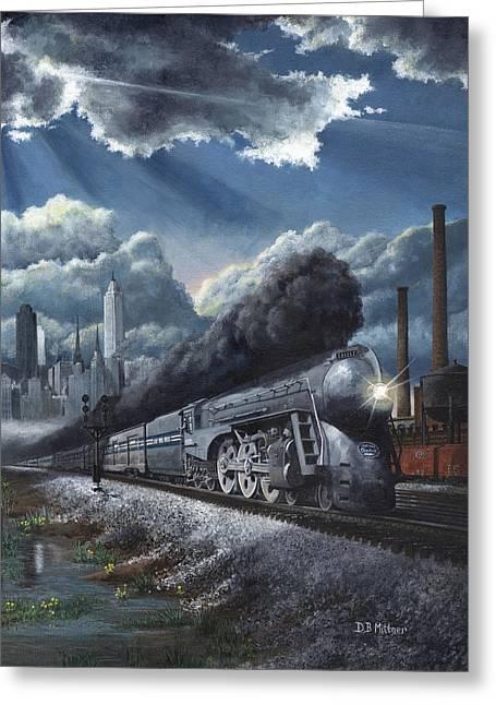 Steam Locomotive Greeting Cards - Eastbound Twentieth Century Limited Greeting Card by David Mittner